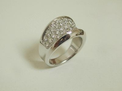 Diamond dress ring 18ct white gold
