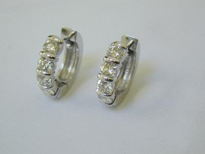 Diamond set earrings in platinum