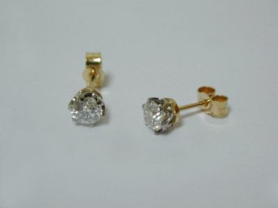 18ct and platinum daimond studs