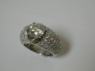 Big and bold pave set diamond ring