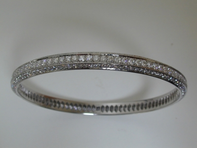 Platinum diamond set bangle